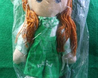 Vintage 1970  NOS Kelly Girl Service promotional rag doll  Knickerbocker toys.