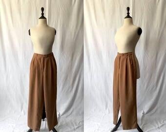 nutmeg high waist silk pants