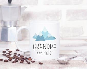 New Grandpa Gift, Grandpa Established 2017, Pregnancy Announcement