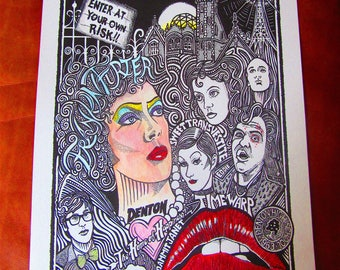 Rocky Horror Picture Show Poster Art Print by Posterography.