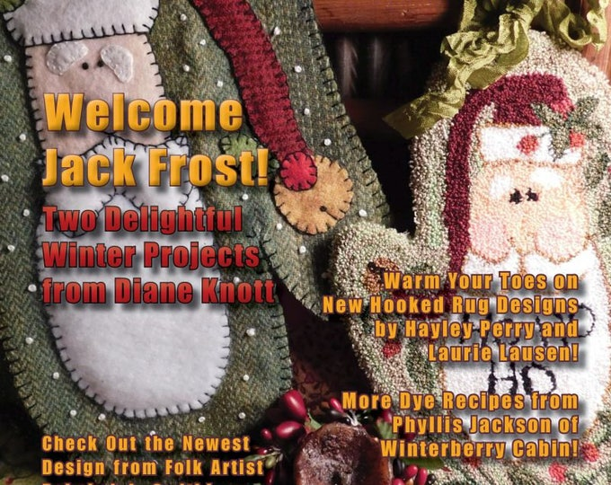 Featured listing image: Magazine: NEW Issue! - WOOL WORKS -  Winter 2017 - A Magazine for Wool Lovers!