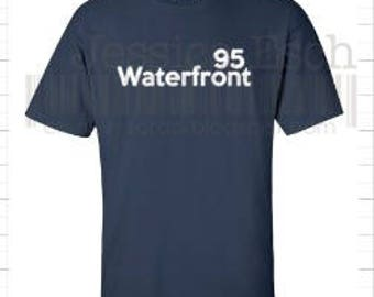 Waterfront 95 Custom Designed Tee Shirt~ Block Lettering