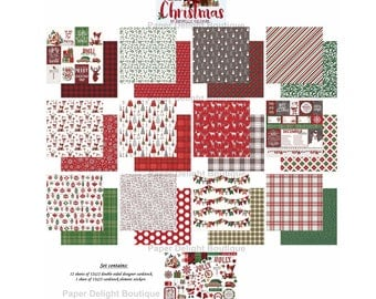 New! Photo Play MAD 4 PLAID CHRISTMAS 12x12 Scrapbook Cardstock Paper Collection Kit