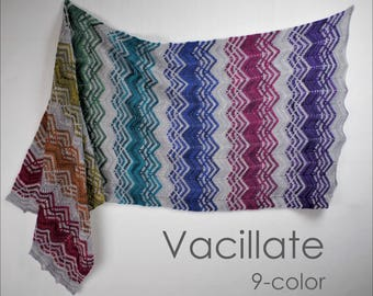 Vacillate 9 Color Yarn Kit - Stunning Superwash Fingering Weight - 100% Superwash Merino