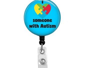 Retractable Badge Reel - Autism ID Badge - Badge Reels - Autism Badge Reel - Autism Nurse Badge Reel