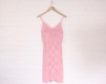 rose crochet knit midi dress · fits up to large
