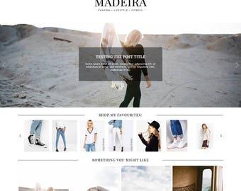 "Blogger Template ""Madeira"" // Responsive Blogspot Premade Blog Theme Design"