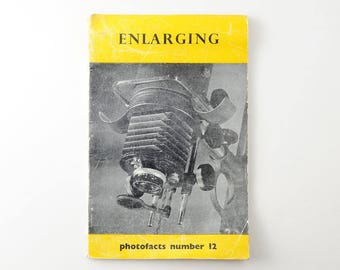 Vintage Enlarging Guide Photofacts No. 12 Fountain Press Publication - Darkroom Enlarger 1951 Publication