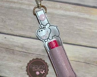 Lip Balm, Chapstick, Flash Drive, USB Drive Holder - Hippo