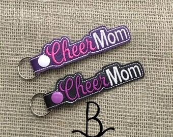 Cheer Mom-Cheerleading Key Fob/Snap Tab/KeyChain/Luggage Tag
