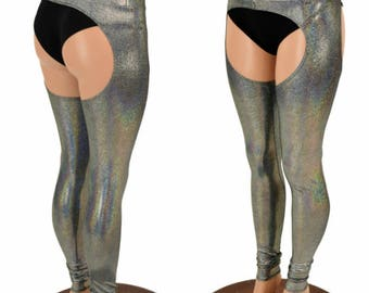 Chaps in Silver Holographic - 154893