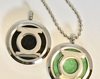 Men's Diffuser Necklace - Superhero - Essential Oil Locket - Alien