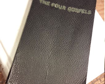 1940s Pocket Sized Bible  - The Four Gospels - New Testament - 1946 - Antique Religious Books and Bibles