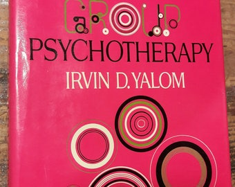 1975 Psychotherapy Book - Vintage Psychology Textbook - Old Antique Decorative Books for Decorating - Antique Collectible Vintage Textbooks