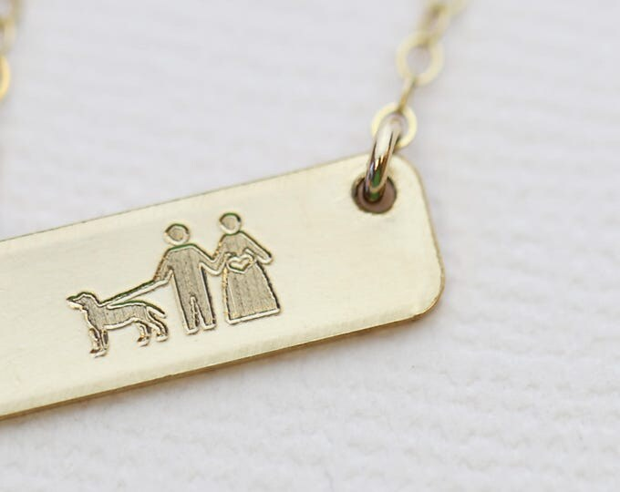 Mini Personalized Family Bar Necklace // New Mother Necklace // Family tree necklace // Gift for New mom
