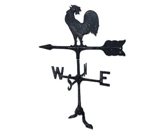 Vintage Wrought Iron Rooster Weather Vane Great Americana Decor