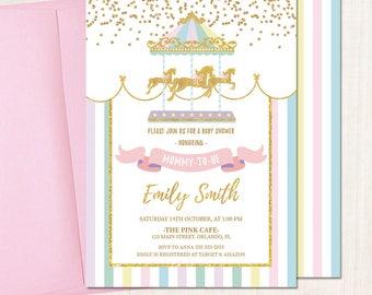 Carousel invitation   Etsy