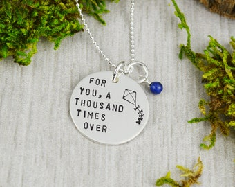 For You, A Thousand Times Over Necklace in Sterling Silver - Lapis Lazuli - Friendship Gift