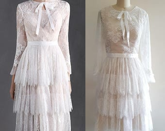 1920s wedding dress etsy 1920s wedding dress boho wedding dress flapper lace dress 20s lace junglespirit Images