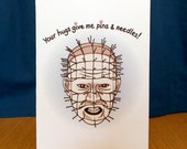 Your Hugs Give Me Pins and Needles - Horror Valentine Card