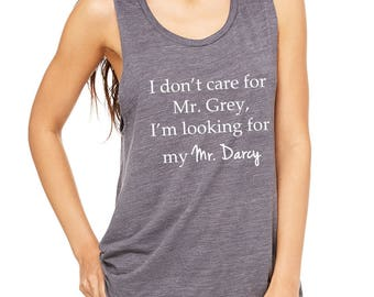 Mr. Darcy Tank Top, Pride and Prejudice Shirt, Jane Austen