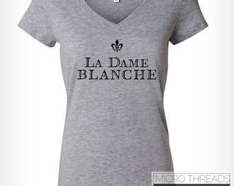 Outlander T-Shirt - La Dame Blanche - Grey T-Shirt - Women's T-Shirt