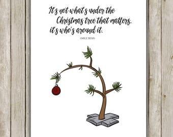 8x10 Christmas Printable, Charlie Brown Quote, Typography Print, Christmas Art, Charlie Brown Christmas, Printable Quote, Charlie Brown Tree