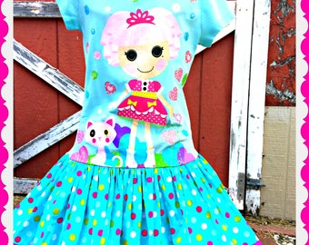 girls Lalaloopsy dress Ready to ship size 7/8 last one