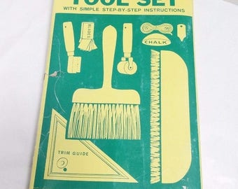 Vintage WARNER Vinyl Hanging Kit Tools for Wallpaper from 1960s Made in USA