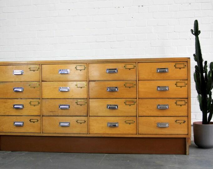 Bank Of English Haberdashery Drawers Circa 1940s
