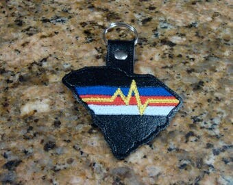 South Carolina First Responders Fob - In The Hoop - Snap/Rivet Key Fob - DIGITAL Embroidery Design
