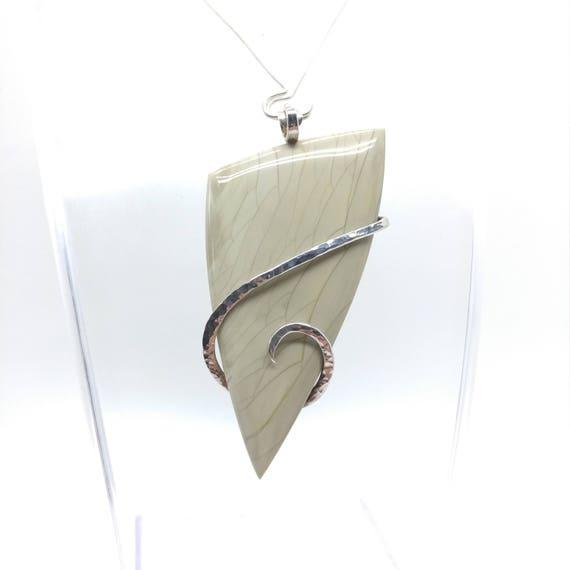 Willow Creek Jasper Pendant | Simple Green Pendant | Fine Jasper Pendant | Sterling Silver | Mint Green Pendant | Picture Jasper Pendant