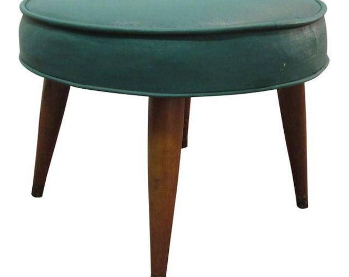 Mid-Century Danish Modern Atomic Free Space Footstool/Ottoman