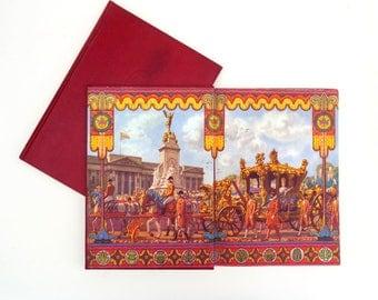 Elizabeth Crowned Queen Book - A Pictorial Record, Coronation Day Souvenir 1953, British Royal Memorabilia, Oldhams Press London