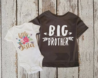 Sibling Shirts / Big Brother shirt / Big Brother Little Sister set / Little Brother or Little Sister
