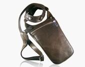 """Revolverbag halter bag darkbrown bag Iphone 7 plus leather bag holster bag men festivalbag man bag holster men bag shoulderbag men """"Cullen"""""""
