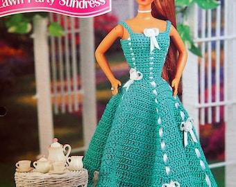Lawn Party Sundress By Eileen Garrett And Annie's Fashion Doll Crochet Club Vintage Crochet Pattern Page 1995
