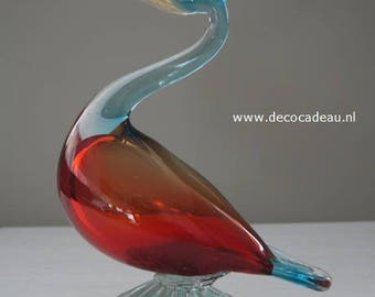 Hollow blown/Water bird, a Murano glass, circa 1960.