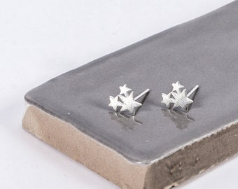 Sterling Silver Wish Upon A Star Studs