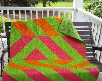 Cartwheel  Quilted Throw