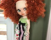 RESERVED for Gwen- Custom Blythe Doll named Friday Black by Emmy Blythe Final Payment