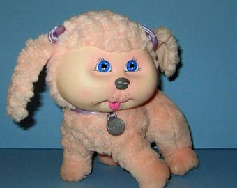 Cabbage Patch Kids, Adopt and Luv, Mattel Pink Poodle,  Vintage 1980s, Original Box  Included