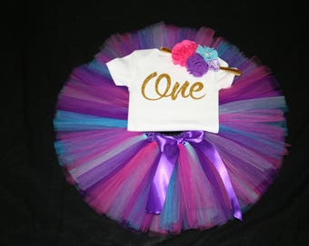 First Birthday Outfit, Girls 1st Bday Tutu, First Birthday Outfit, Birthday Tutu, 1st Birthday Tutu Set, 1st Birthday Tutu, Girls Cake Smash