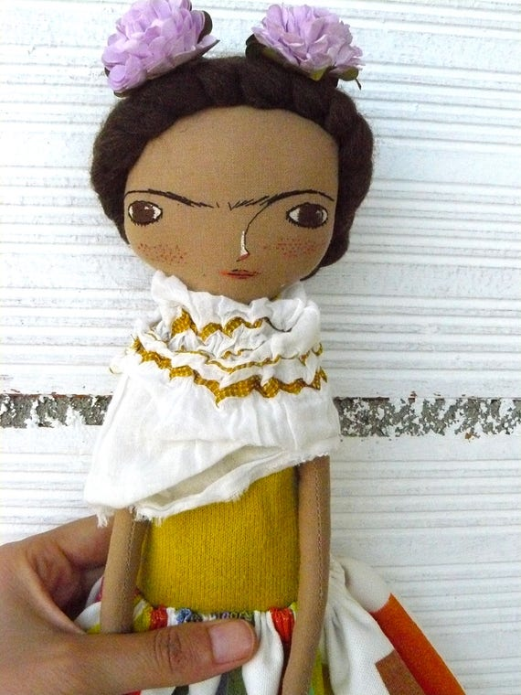 Frida Kahlo rag doll. 13 inches. Frida nº 20 2017 series.