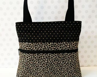 Leopard Shoulder Bag /Small  Purse / Magnetic Snap Closure