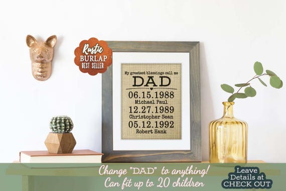 Fathers Day Gift, from Daughter, Father's Day, Custom Quote Print Wall Decor, Personalized Fathers Day Gift for Dad Gift, Photo Frame