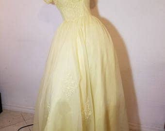 FREE  SHIPPING     1950  Taffeta Party Dress