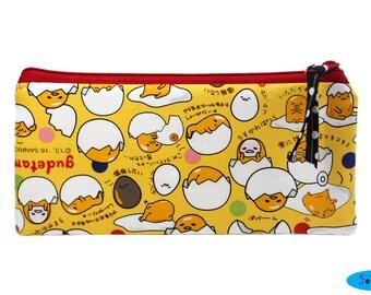 NEW!  Gudetama Pencil Case   Sanrio Zip Bag   Pencil Pouch