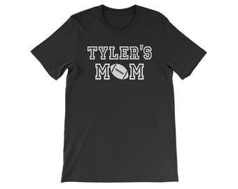 Personalized Football Mom Shirt, Custom Football Mom Shirt, Football Mom T Shirt, Football Shirt, Custom Football Mom T-Shirt