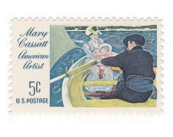 1966 5c Mary Cassatt American Artist - 10 Unused US Vintage Postage Stamps - Item No. 1322